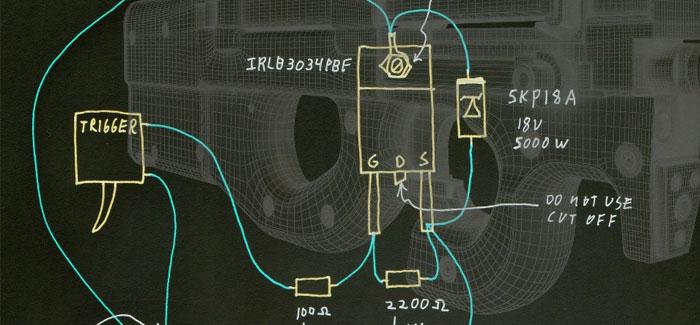 DIY MOSFET in een P90