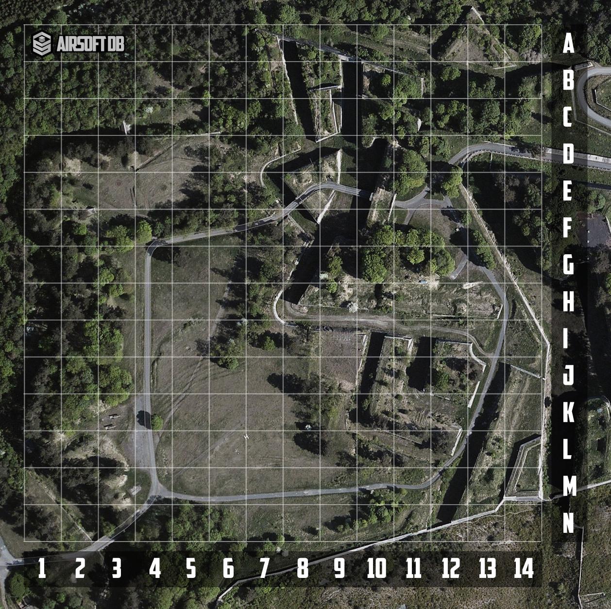 Plattegrond Givet Fort Charlemont Airsoft