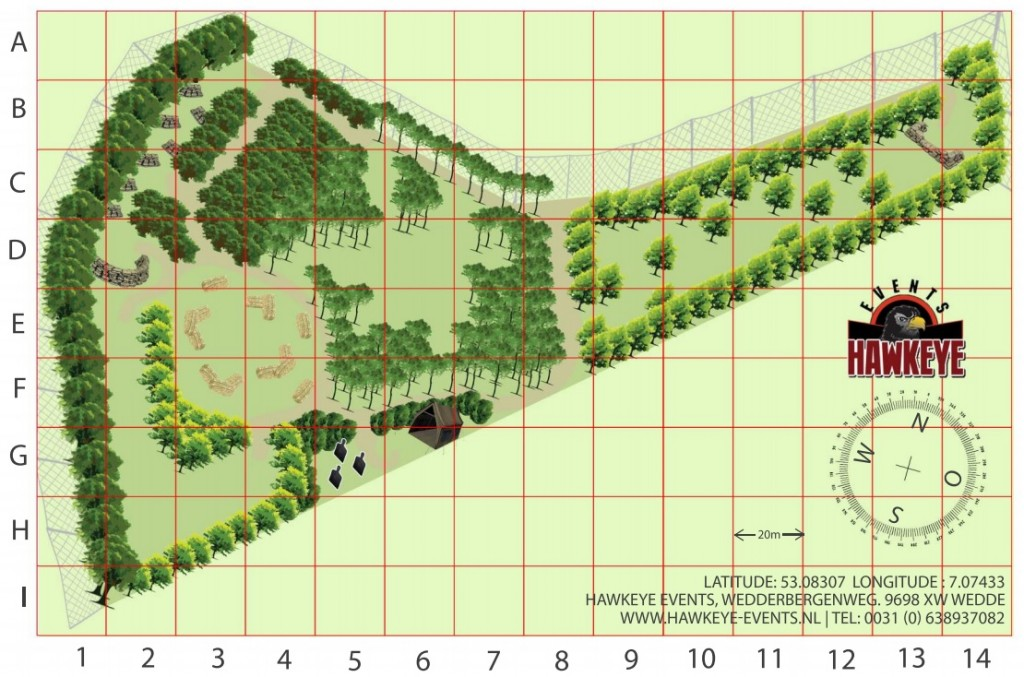 Hawkeye Airsoft Plattegrond